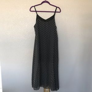 Dresses & Skirts - Black and white polka dot maxi dress
